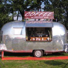 Mobiele koffiebar coffee bar on wheels